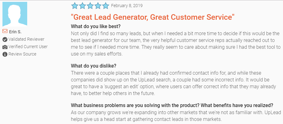 lead generation tools_ratings for uplead