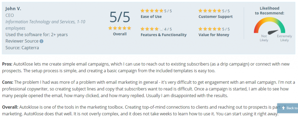 lead generation tools_ratings for autoklose