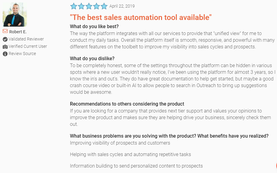 lead generation tools_ratings for outreachplus