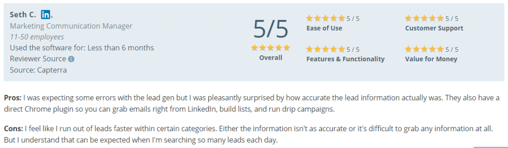 lead generation tools_ratings for prospect