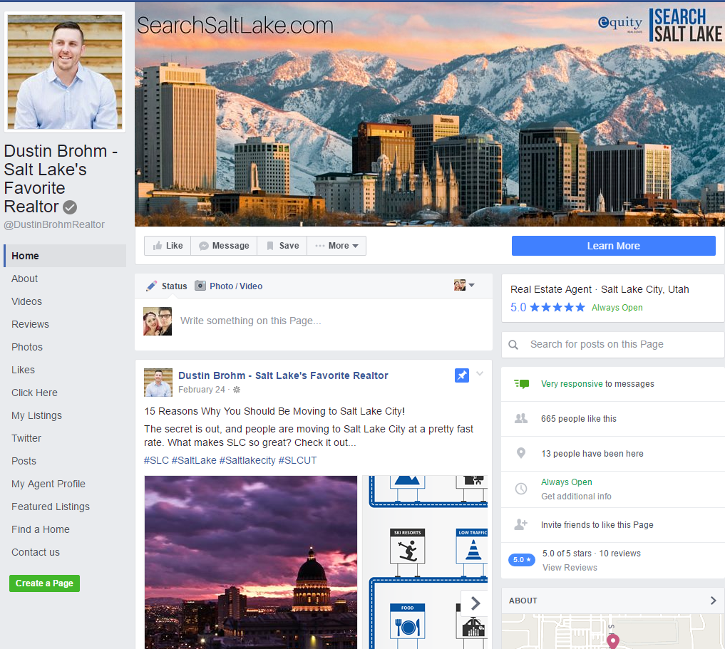 real estate business_fb account