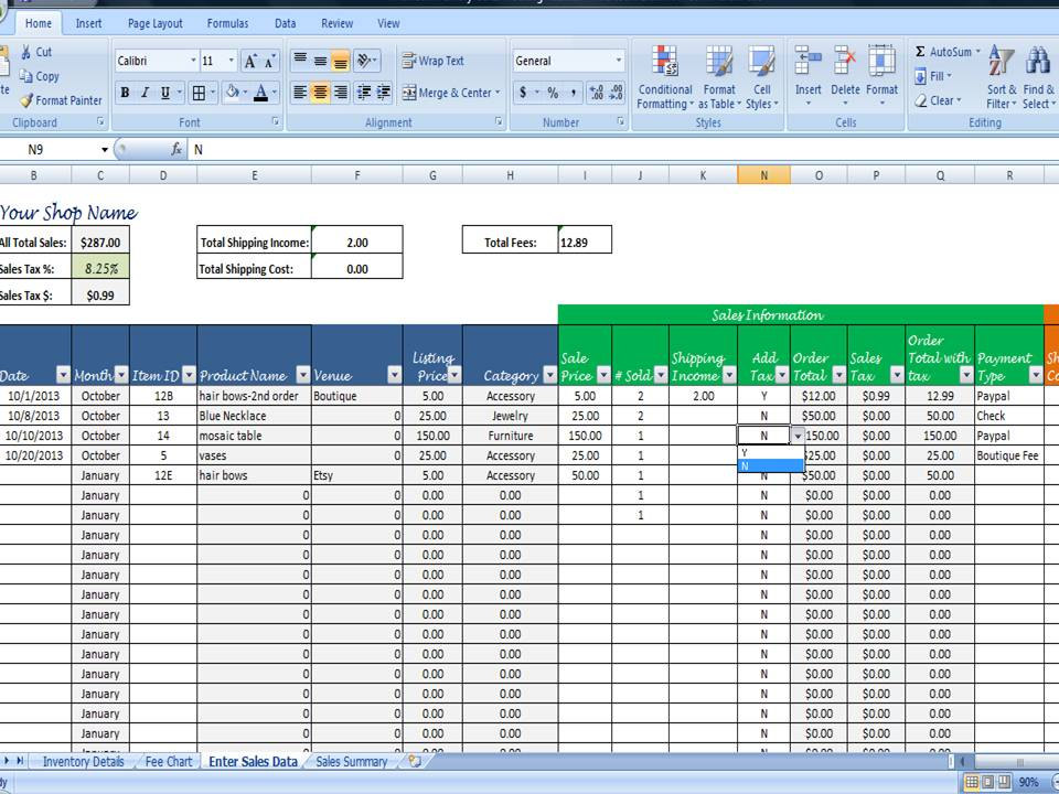 what is inside sales_excel