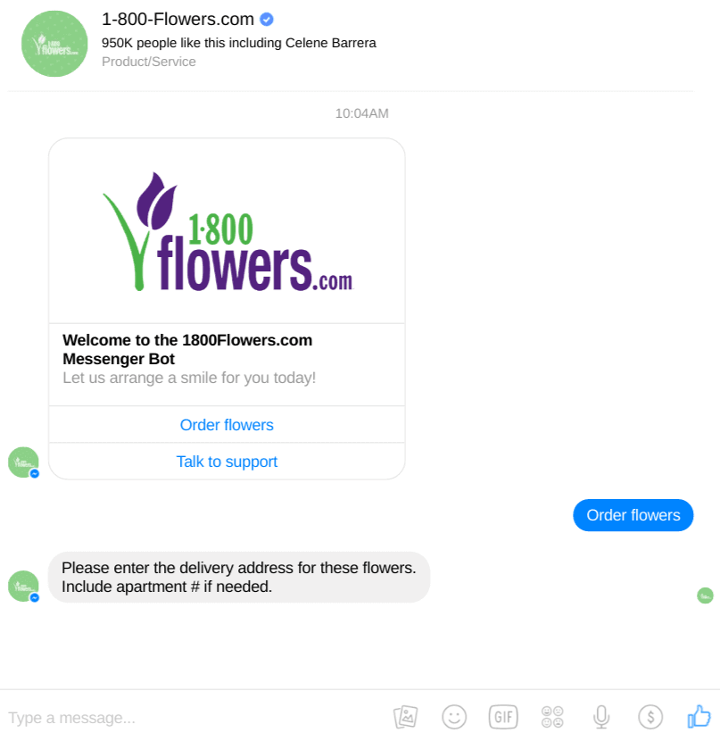 conversational Marketing_1800 flowers